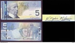 Canada, 2006, Nouveau 5$, Série APP,  Avec La Bande Métallique à Gauche, Hockey, Patin, Patinage, Enfants, Children - Canada