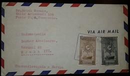O) 1939 VENEZUELA, AMERICAN BANK NOTE-GRAND COLOMBIAN MERCHANT FLEET-M.S. REPUBLICA DE VENEZUELA, AIRMAIL TO CZECHOSLOVA - Venezuela