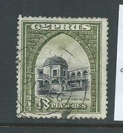 Cyprus 1934 Definitives 18 Pi. Buyuk Khan FU , 1 Shortish Perf - Cyprus (Republic)