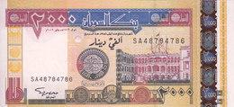 SUDAN 2000 DINARS 2002 P-62 UNC */* - Sudan