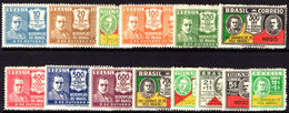 Brazil 1931 Revolution Set Lightly Mounted Mint. - Unused Stamps