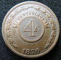 Paraguay 4 Centavos 1870 - Paraguay