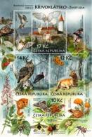 A 604 - 607 Czech Republic Krivoklat 2009 Barn Owl Eagle Owl Stark Deer Moth Frog Bat - Hiboux & Chouettes