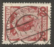 POLAND / UKRAINE. BORYSLAW POSTMARK. 20gr USED - 1919-1939 Republic