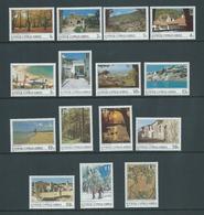 Cyprus 1985 Scene Definitive Set Of 15 MLH - Unused Stamps