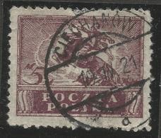 POLAND. CIECHANOW POSTMARK. 5M USED - 1919-1939 Republic