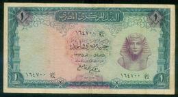 EGYPT / ONE POUND / DATE : 10-4-1963 / P-37a(1) / PREFIX : T38 / TUTANKHAMEN / USED. - Egypte
