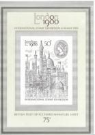 19076r) GB UK Stamp Exhibition Souvenir Sheet  Mint No Hinge MNH ** - 1952-.... (Elizabeth II)