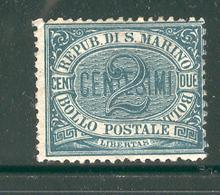 SAN MARINO 1877 Scott Cat. No. 1 MH - San Marino