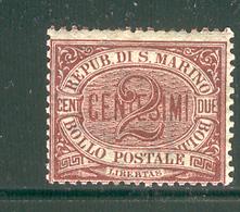 SAN MARINO 1895 Scott Cat. No. 3 MH - San Marino