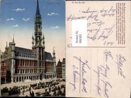 606383,Brüssel Bruxelles Hotel De Ville Rathaus Town Hall - Belgien