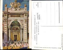 606376,Künstler Ak Brüssel Bruxelles Facade Principale Exposition Universelle Et Inte - Belgien