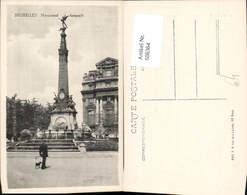 606364,Brüssel Bruxelles Monument Anspach Denkmal Brunnen - Belgien