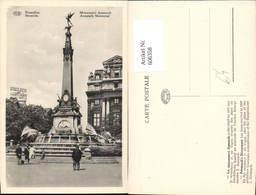 606358,Brüssel Bruxelles Monument Anspach Anspach Memorial Denkmal Brunnen - Belgien