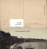 606154,London Thames Embankment Schiff Dampfer Great Britain - England