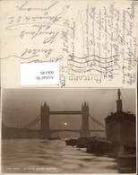 606149,Foto Ak London The Tower Bridge Sundown Brücke Sonnenuntergang Great Britain - England