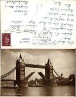606089,Foto Ak London Tower Bridge Brücke Schiff Dampfer Great Britain - England