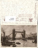 606070,Künstler Ak W. Matthison The Tower Bridge Brücke London Pub Raphael Tuck Sons - England