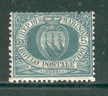 SAN MARINO 1899 Scott Cat. No. 6 MH - San Marino