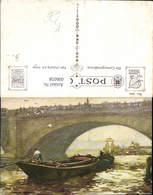 606058,Künstler Ak London London Bridge Boot Ruderboot Brücke Great Britain - England