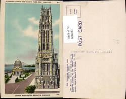 606043,New York City Riverside Church And Grants Tomb Grab Kirche New York - NY - New York