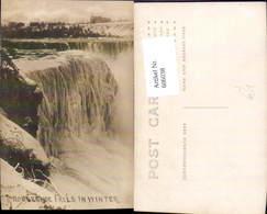 606038,Foto Ak Horseshoe Falls In Winter Niagara Falls Wasserfall New York - NY - New York
