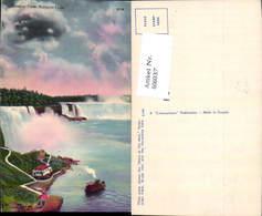 606037,General View Niagara Falls Wasserfall Schiff New York - NY - New York