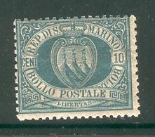 SAN MARINO 1892 Scott Cat. No. 8 MH - San Marino