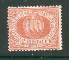 SAN MARINO 1877 Scott Cat. No. 11 MH - San Marino