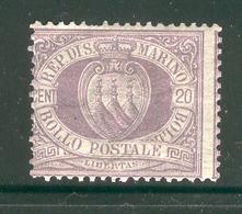 SAN MARINO 1895 Scott Cat. No. 12 MH (b) - San Marino