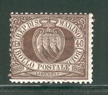 SAN MARINO 1892 Scott Cat. No. 18 MH - San Marino