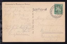 L1 Schiffsbrief + OSt. Friedrichshafen 7 JUL 25 Auf AK (Sommerabend In Konstanz - Deutschland