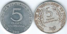 Burundi - 5 Francs - 1968 (KM16) & 1980 (KM20) - Burundi