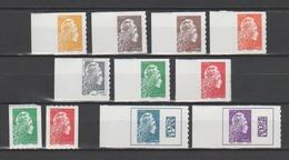 FRANCE / 2018 / Y&T N° AA 1594/1604 ** : Marianne L'engagée (adhésifs Feuille + Roulette) 11 TP = Complet & BdF G - Adhesive Stamps