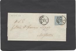 Italia Regno,1863,lettera Completa Da Palermo Per Mistretta,splendida - 1861-78 Vittorio Emanuele II