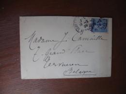 1906 Paris Rue Claude Bernard Lettre Timbre 25 C Semeuse Lignee - Postmark Collection (Covers)