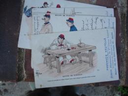 LOT De  5 Carte Illustrateur Gerbault  Pharmacie Nouvelle Simon Pharmacie 1 Er Classe Blois - Blois