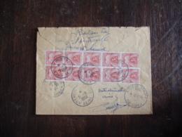 Lettre Taxee  10 Timbre Gerbe Gerbes 3 F Sur Lettre  De Montrouge A Kremlin Bicettre - Lettres Taxées