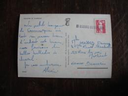 60 Beauvais Distribution Griffe Marque Lineaire Obliteration Sur Lettre - Marcophilie (Lettres)