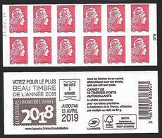 CARNET 12TP YSEULT YZ  - L'ENGAGEE - TVP LP -  Votez Pour Le Plus Beau Timbre - Daté Du 21 02 19 - NEUF - NON PLIE - Markenheftchen