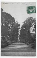 (RECTO / VERSO) RUE EN 1911 - N° 40 - AVECNUE DU CHATEAU DE M. LE MARQUIS DE LONGVILLIERS - BEAU CACHET - CPA VOYAGEE - Rue