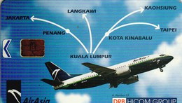 TELECARTE ETRANGERE AVEC AVION  AIR ASIA - Airplanes
