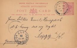 Singapore 1900: Post Card To Leipzig - Singapore (1959-...)