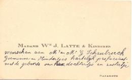 Visitekaartje - Carte Visite - Madame We J. Latte & Kinderen  - Nazareth - Cartes De Visite