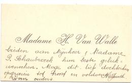 Visitekaartje - Carte Visite - Madame H.Van Walle - Nazareth - Cartoncini Da Visita