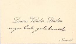 Visitekaartje - Carte Visite - Louise Vander Linden - Nazareth - Cartoncini Da Visita