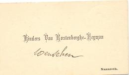Visitekaartje - Carte Visite - Kinders Van Rostenberghe - Heyman - Nazareth - Cartes De Visite