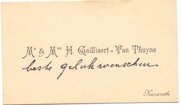 Visitekaartje - Carte Visite - Mr & Mme H. Gailliaert - Van Thuyne - Nazareth - Cartes De Visite