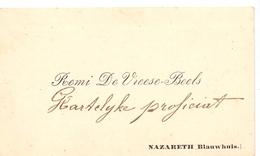 Visitekaartje - Carte Visite - Remi De Vreese - Beels  - Nazareth Blauwhuis - Cartes De Visite