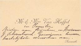 Visitekaartje - Carte Visite - Mr & Mme Van Huffel - Nazareth - Cartes De Visite